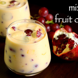 custard recipe | fruit custard recipe | fruit salad with custard recipe