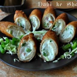 Dahi ke Sholay (bread curd fried rolls) - a must try!