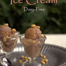 Dairy Free Bulletproof Chocolate Peanut Butter Ice Cream