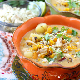 Dairy Free Chipotle Chicken Corn Chowder