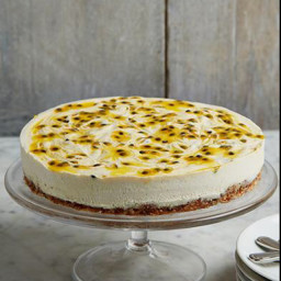 Dairy-free granadilla-and-ginger cheesecake