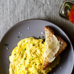 Daniel Pattersons Poached Scrambled Eggs