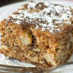 Danish Apple Walnut Cake