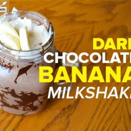 Dark Chocolate Banana Milkshake