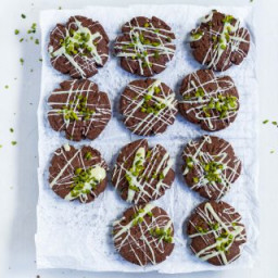 Dark Chocolate Cookies with pistachios