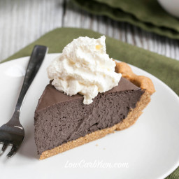 Dark Chocolate Mousse Pie - Peanut Crust