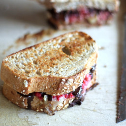 Dark Chocolate, Raspberry, and Brie Grilled Cheese