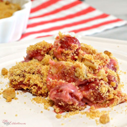 Darn Ugly But Delicious Cherry Crumb Dessert