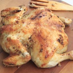DASH Diet Dinner, Day 7, Week 1: Roasted Chicken