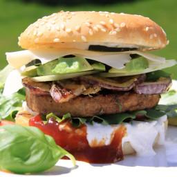 DASH Diet, Week 2, day 2, Lunch & Snack, Veggie burger