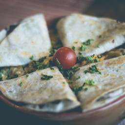 DASH Diet, Week 4, Sunday, Chicken Quesadilla