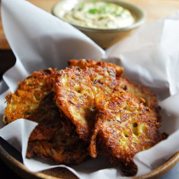 David Venable's Summer Squash Fritters With Garlic Dipping Sauce