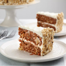 David's Favorite Carrot Cake with Pineapple Cream Cheese Frosting