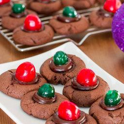 Day 6: Chocolate Fudge Cherry Cookies
