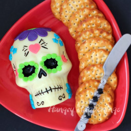 Day of the Dead Appetizer - Decorated Sugar Skull made out of Cheese
