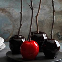 Decadently Dark Candy Apples