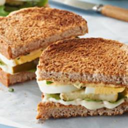 Deconstructed Devilled Egg Sandwich