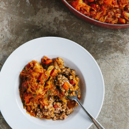 Deep-Dish Cabbage and Farro Casserole