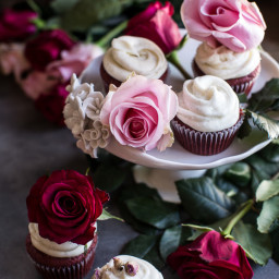 Deep Dark and Rosy, Red Velvet Cupcakes.