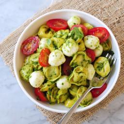DeLallo Made Easy Recipes: Pesto Tortellini Salad with Fresh Mozzarella and