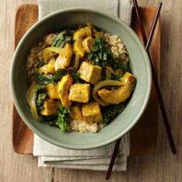 Delicata Squash  and  Tofu Curry