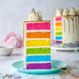 Delicious Rainbow Cake With Gold Drip – Sugar Geek Show