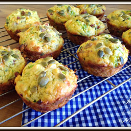 Deluxe Bacon and Vege Muffins