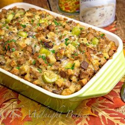 Deluxe Sausage and Mushroom Stuffing--A New Twist on a Holiday Favorite