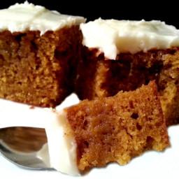 Dessert - Pumpkin Cake w/Cream Cheese Frosting to Die for!