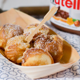 Dessert Takoyaki: Nutella-Filled Pancake Pops