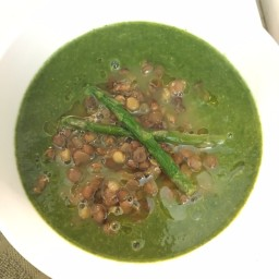 Detoxifying Lentil, Asparagus, And Spinach Soup