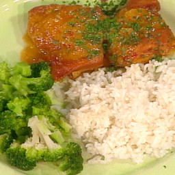 Dijon-Baked Chicken with Rice and Broccoli