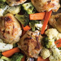 Dijon Mustard Chicken and Vegetables