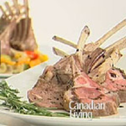 Dijon Rosemary-Glazed Racks of Lamb
