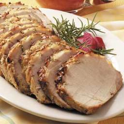 Dijon-Rubbed Pork with Rhubarb Sauce Recipe