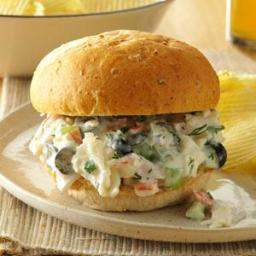 Dilled Seafood Salad Sandwiches Recipe