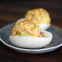 Dilly Deviled Eggs With Ham