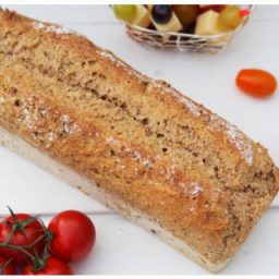 Dinkel-Roggenvollkornbrot für Sandwiches
