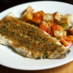 Dinner Tonight: Baked Fish with Savory Bread Crumbs Recipe