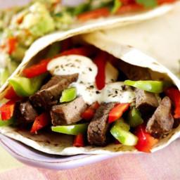 Dinner tonight - easy steak fajitas