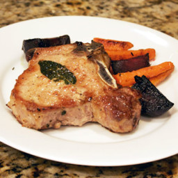 Dinner Tonight: Roasted Carrots and Beets with Pork Chops Recipe
