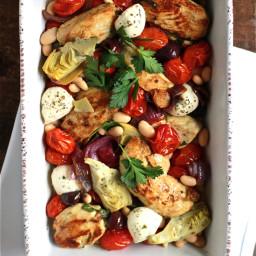 dinner tonight: mediterranean baked chicken