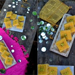 Diwali Sparkles: Chana Dal Burfi (Split Chickpeas Fudge)