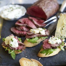 DIY British beef crostini