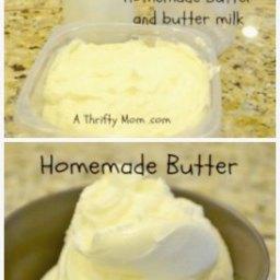 DIY - Homemade butter in a jar