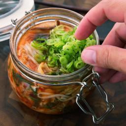 DIY Spicy Kimchi Beef Instant Noodles Recipe