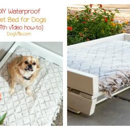 DIY Waterproof Pallet Dog Bed