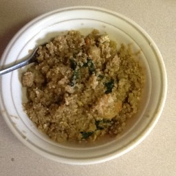 Don's Quinoa Shrimp and Kale Fried Rice