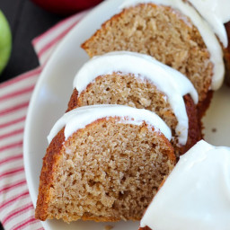 Double Apple Bundt Cake with Cream Cheese Frosting
