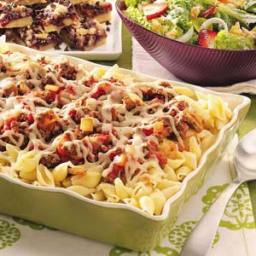 Double-Cheese Beef Pasta Recipe